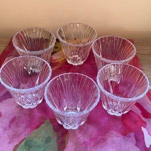 Crystal votives set of 6